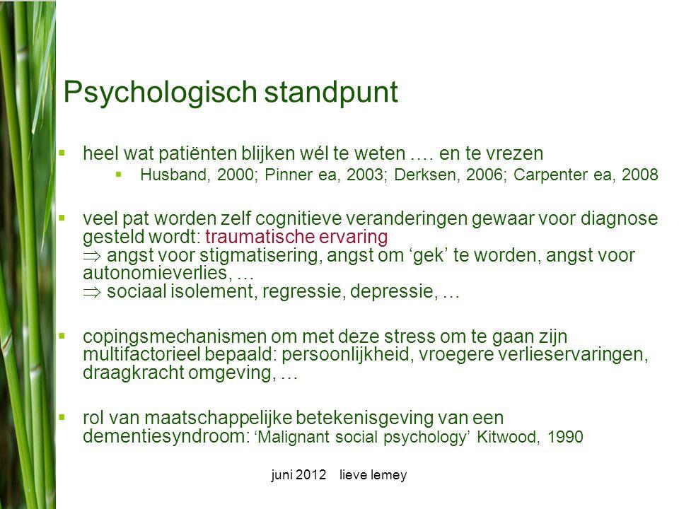 Psychologisch standpunt