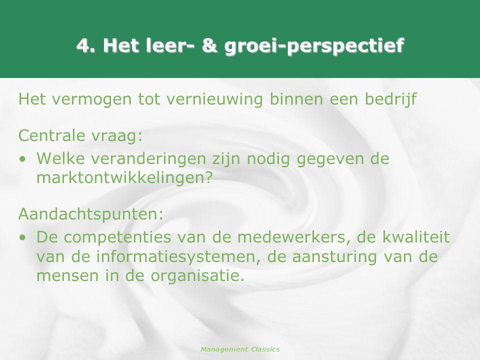 4. Het leer- & groei-perspectief
