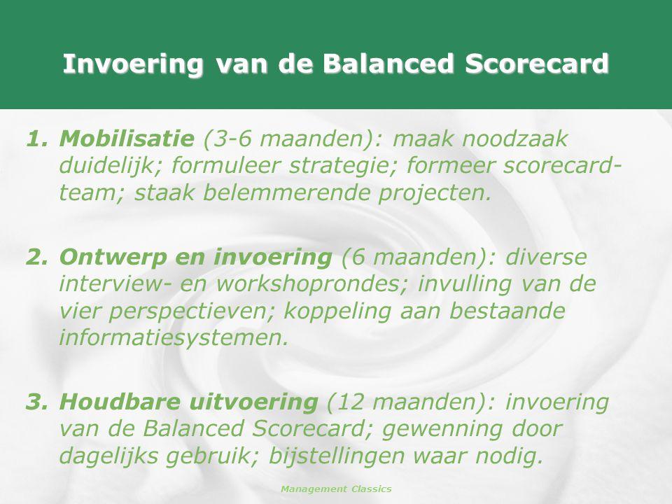 Invoering van de Balanced Scorecard