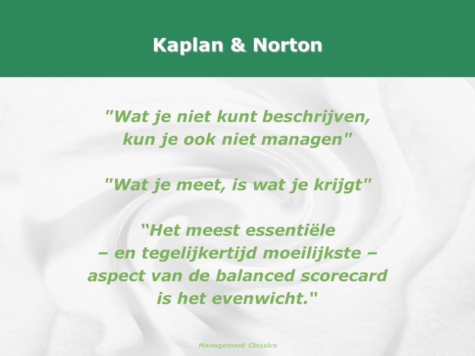 Kaplan & Norton Wat je niet kunt beschrijven,