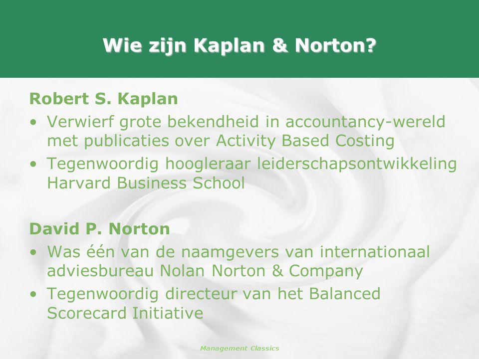 Wie zijn Kaplan & Norton