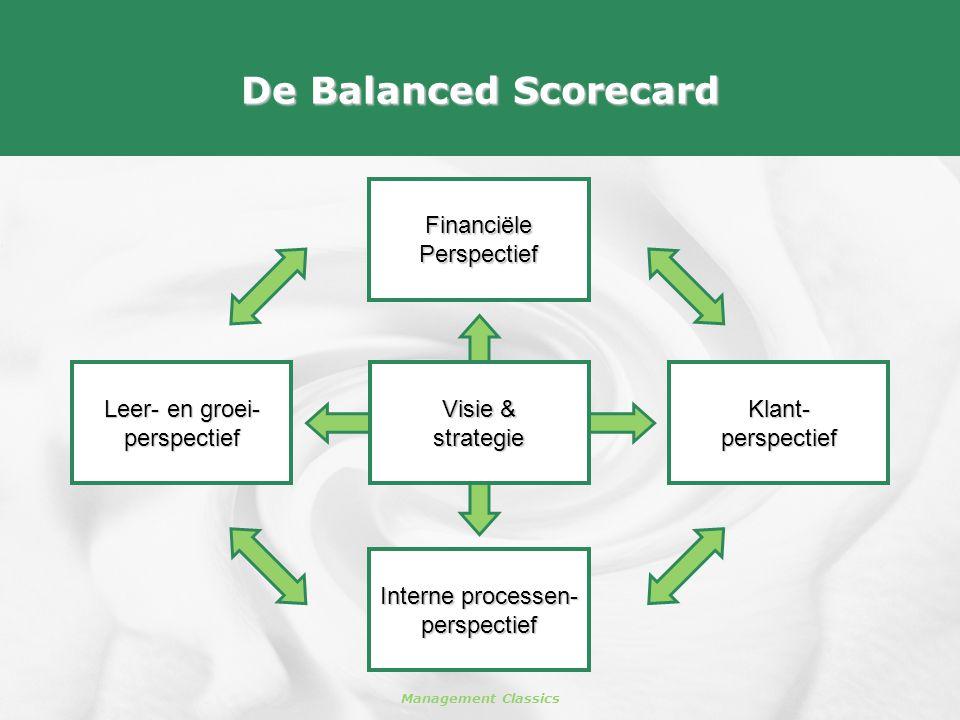 De Balanced Scorecard Financiële Perspectief Leer- en groei-