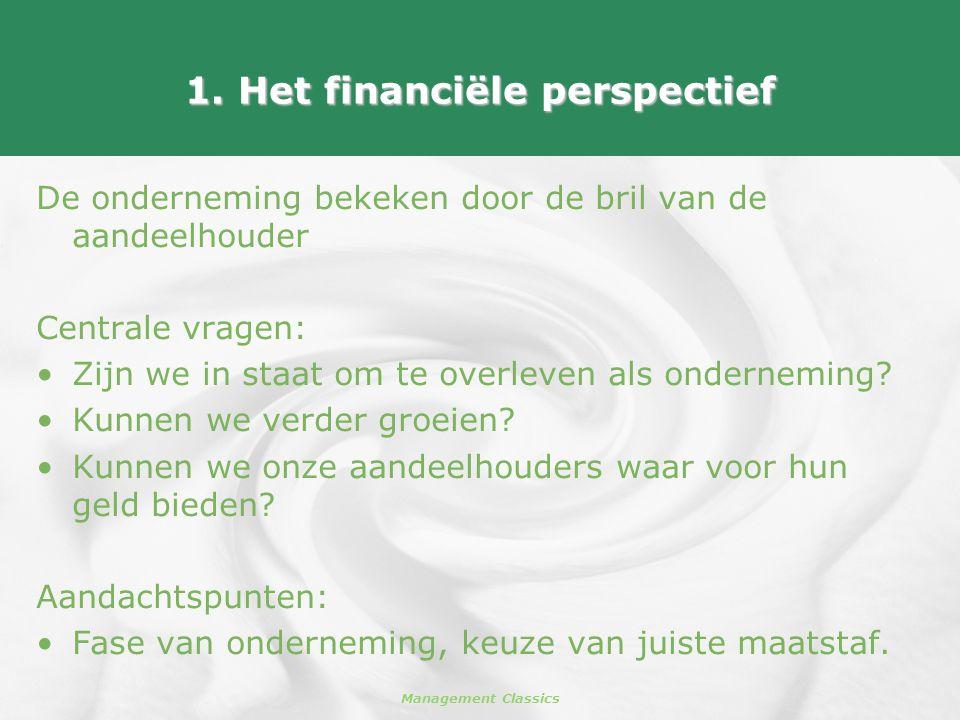 1. Het financiële perspectief