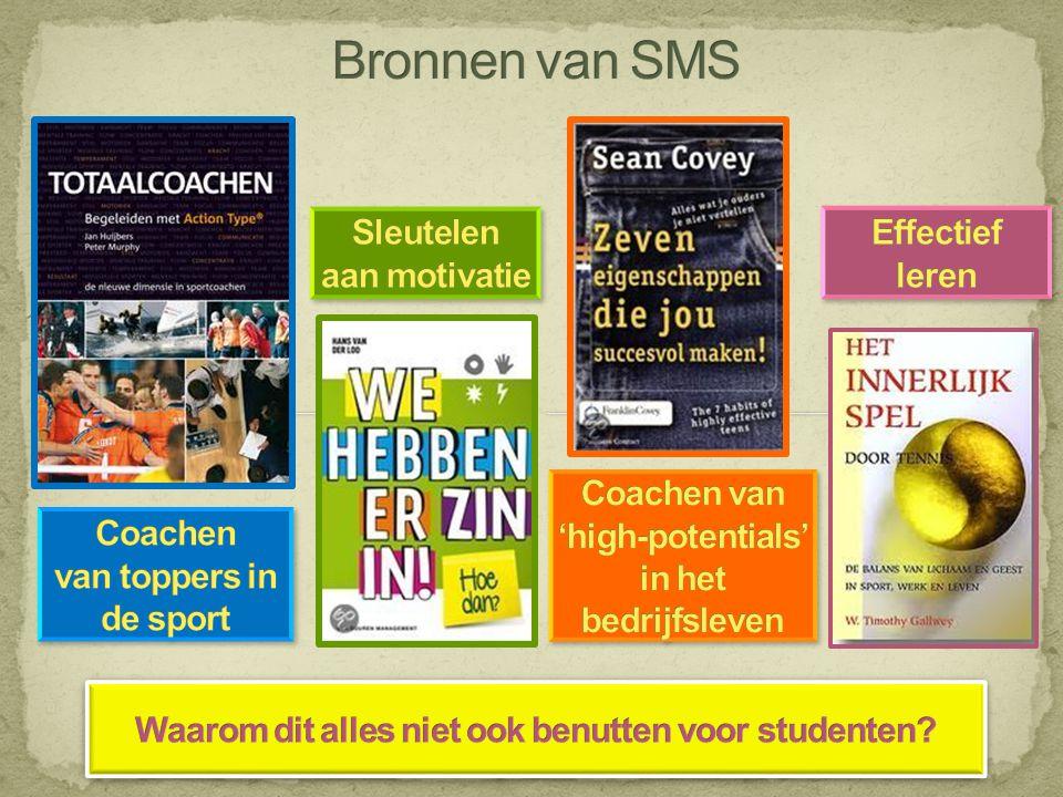 Bronnen van SMS Sleutelen aan motivatie Effectief leren