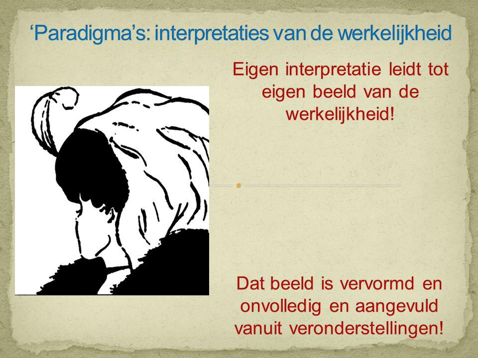 'Paradigma's: interpretaties van de werkelijkheid