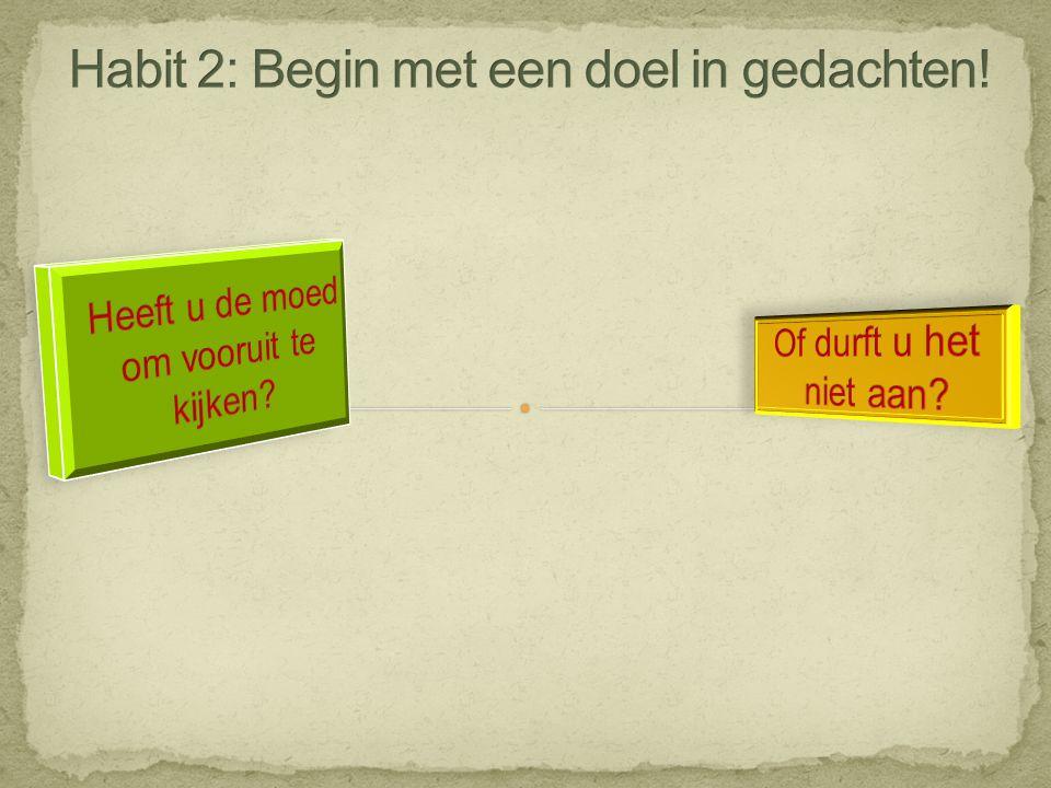 Habit 2: Begin met een doel in gedachten!