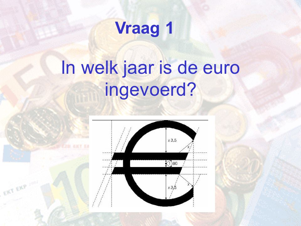 In welk jaar is de euro ingevoerd