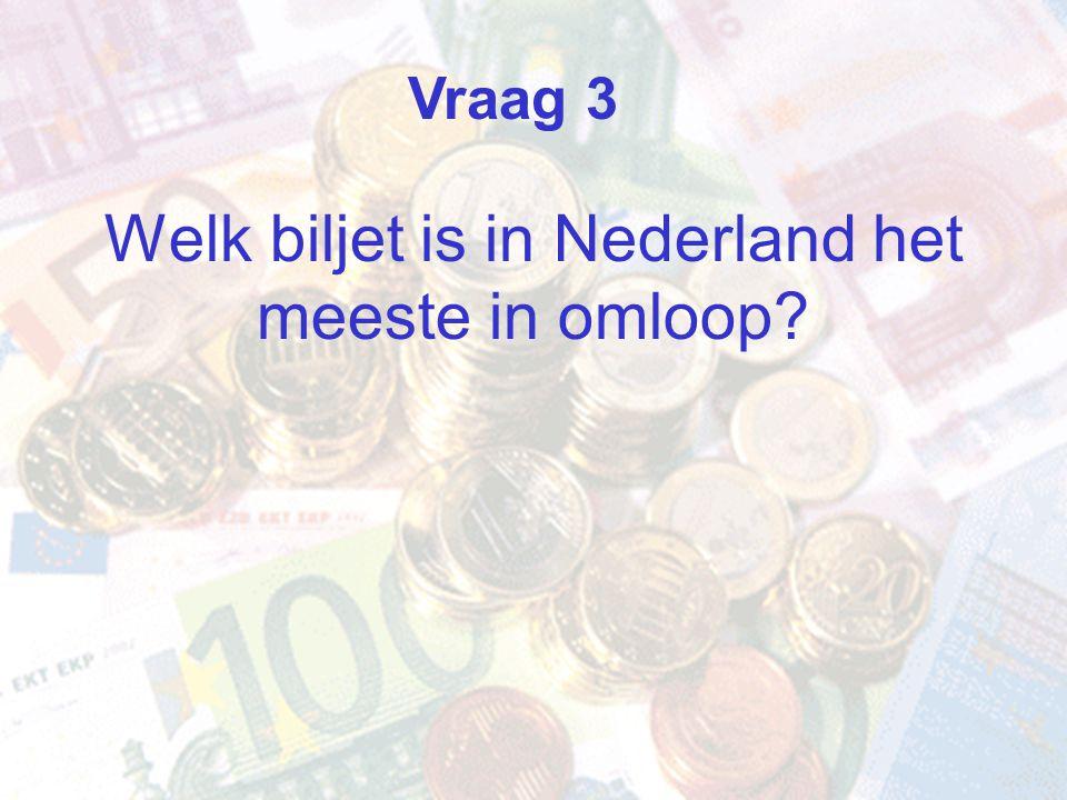 Welk biljet is in Nederland het meeste in omloop