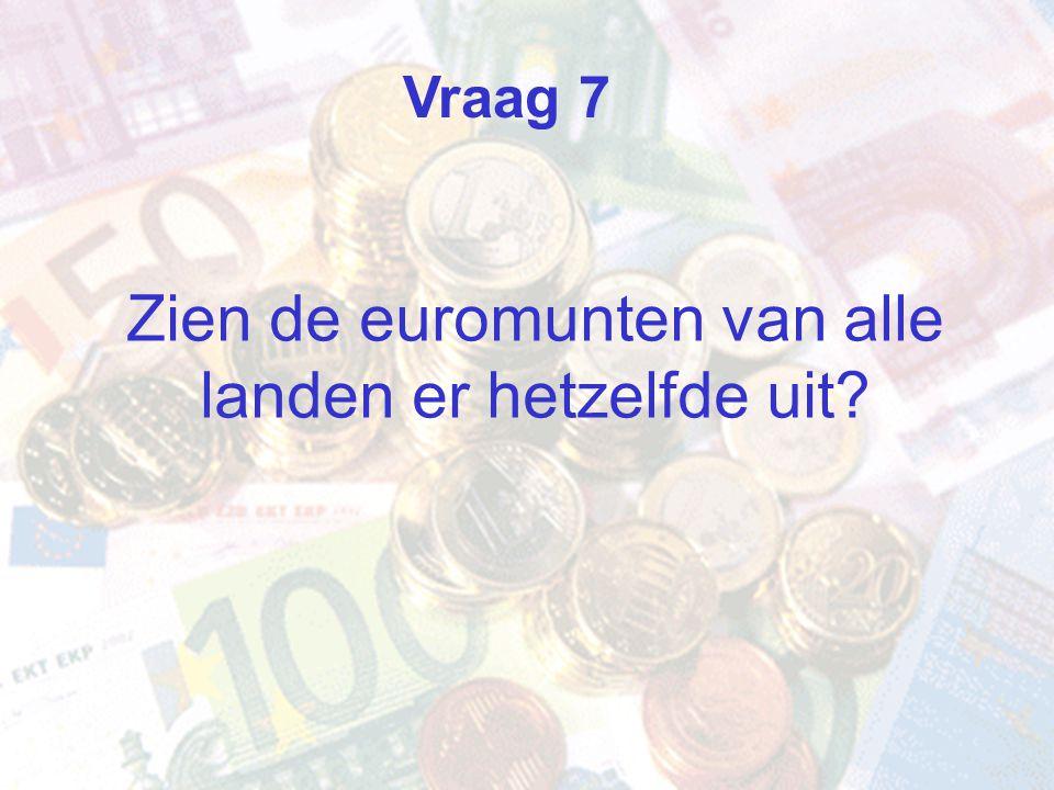 Zien de euromunten van alle landen er hetzelfde uit