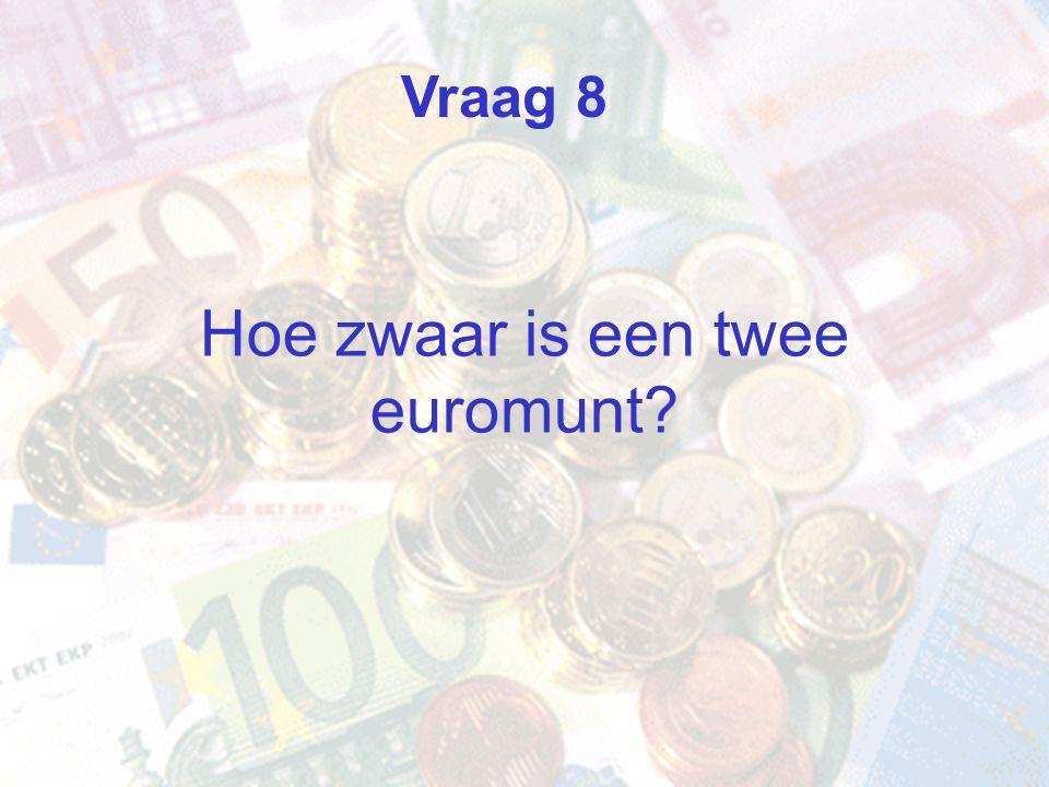Hoe zwaar is een twee euromunt