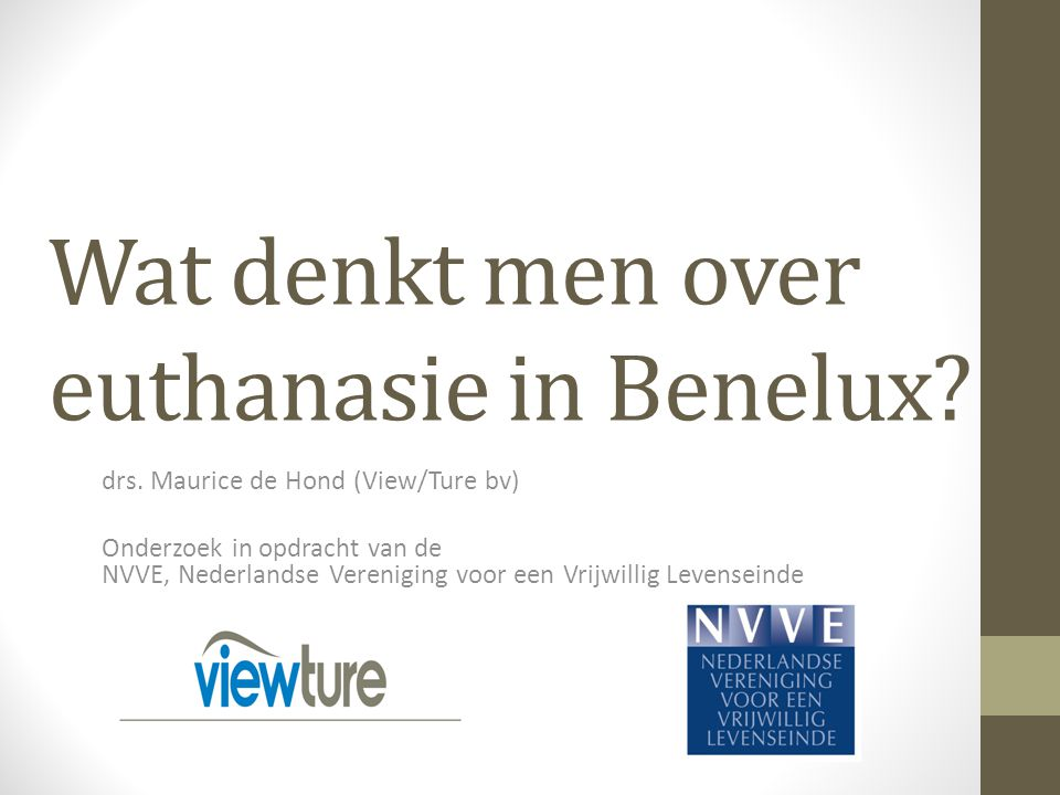 Wat denkt men over euthanasie in Benelux