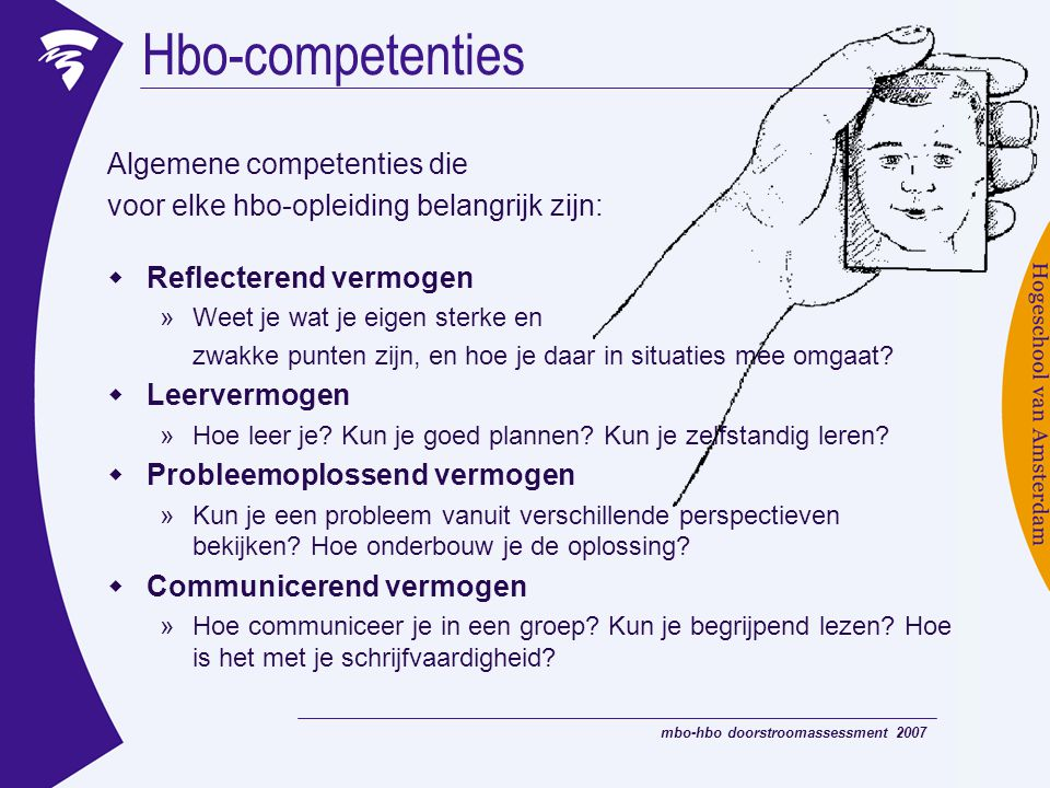 Hbo-competenties Algemene competenties die