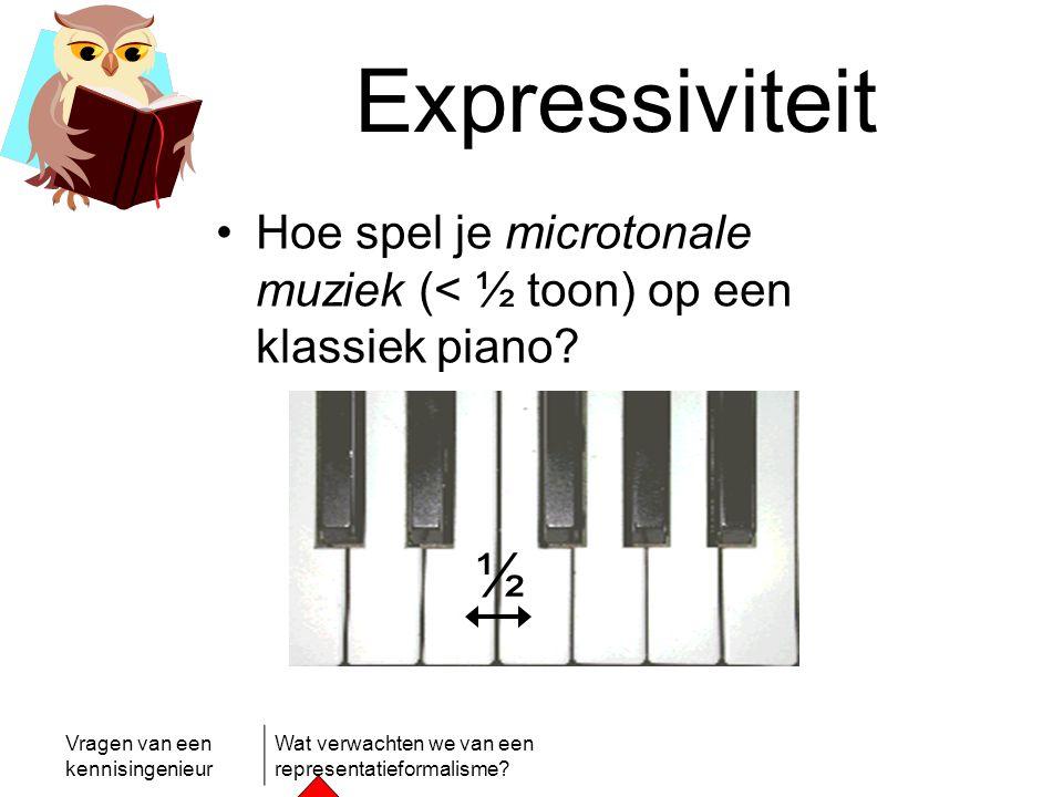 Expressiviteit Hoe spel je microtonale muziek (< ½ toon) op een klassiek piano ½
