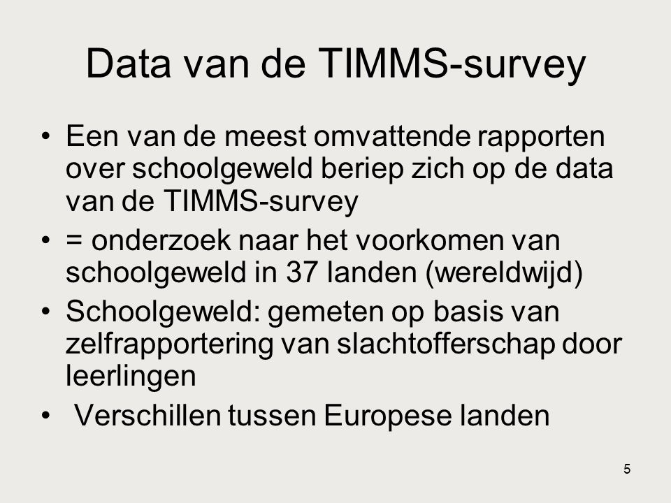 Data van de TIMMS-survey