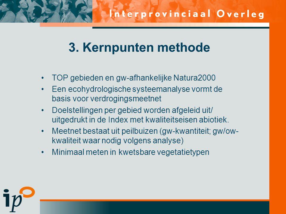 3. Kernpunten methode TOP gebieden en gw-afhankelijke Natura2000
