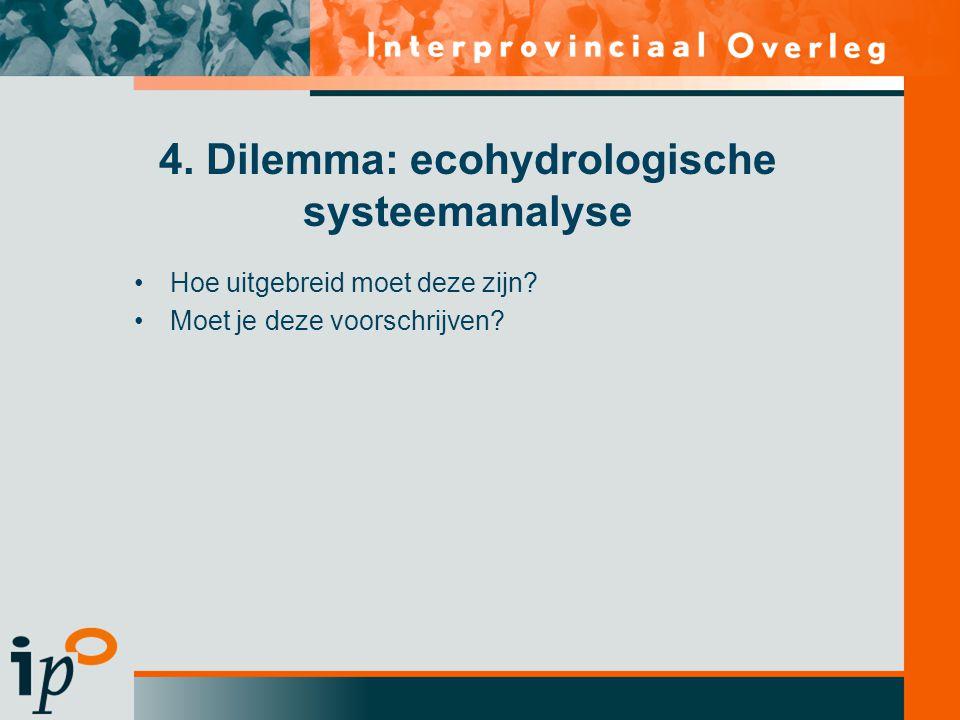 4. Dilemma: ecohydrologische systeemanalyse
