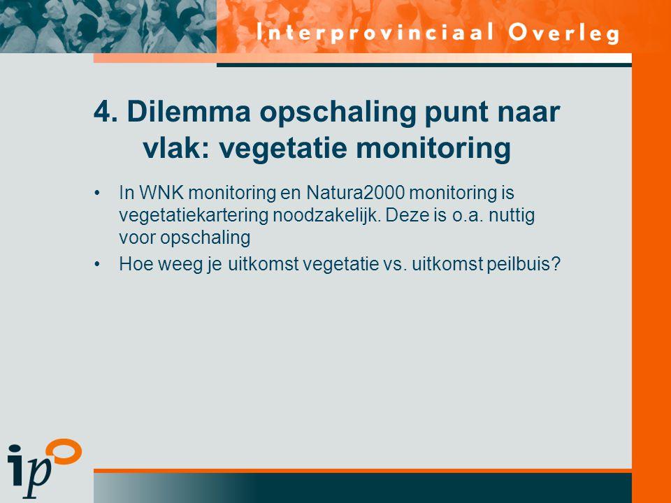 4. Dilemma opschaling punt naar vlak: vegetatie monitoring