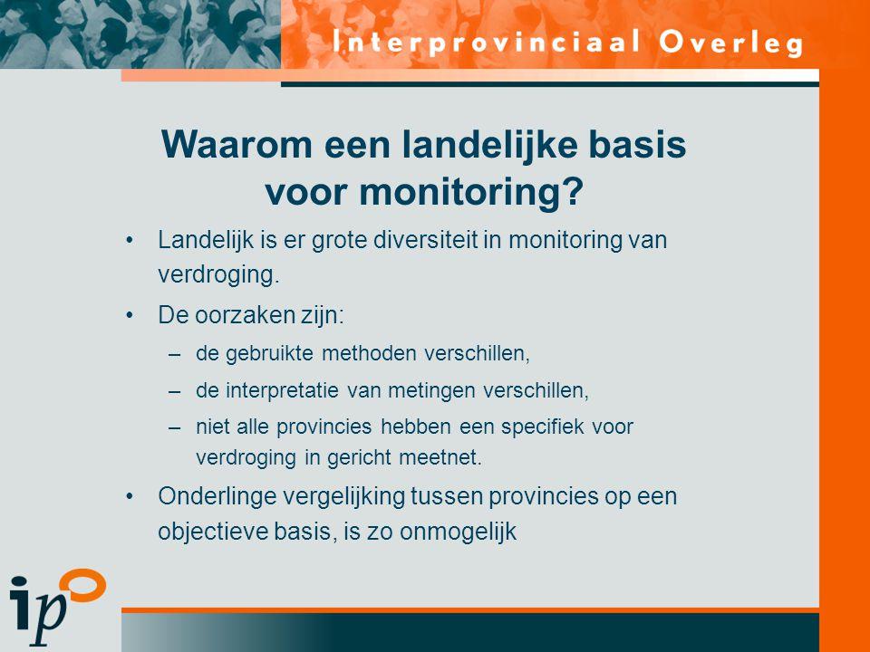 Waarom een landelijke basis voor monitoring