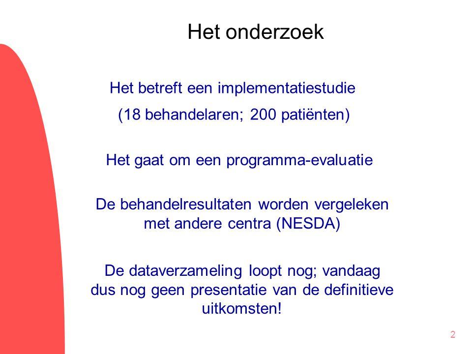 De behandelresultaten worden vergeleken met andere centra (NESDA)