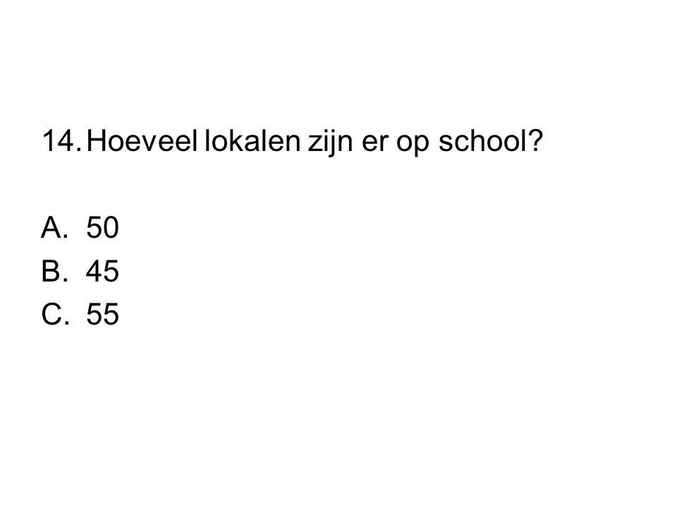 Hoeveel lokalen zijn er op school