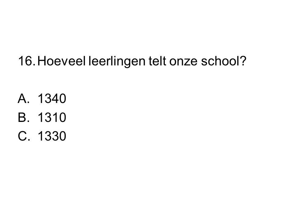 Hoeveel leerlingen telt onze school