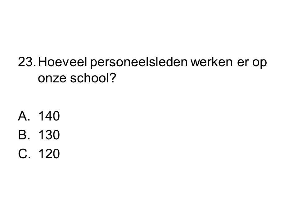 Hoeveel personeelsleden werken er op onze school