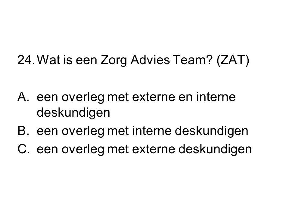Wat is een Zorg Advies Team (ZAT)