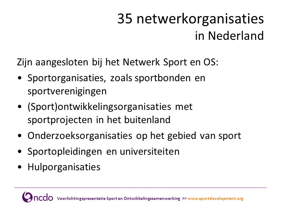 35 netwerkorganisaties in Nederland