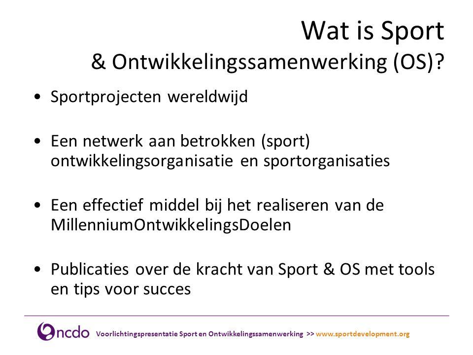 Wat is Sport & Ontwikkelingssamenwerking (OS)
