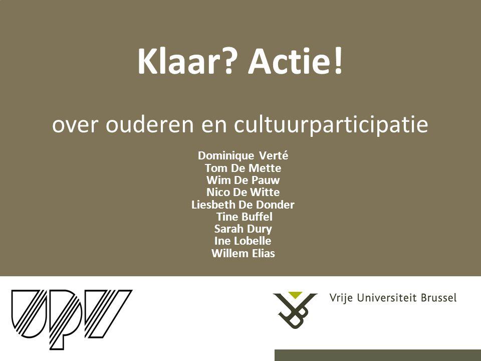 Klaar Actie! over ouderen en cultuurparticipatie