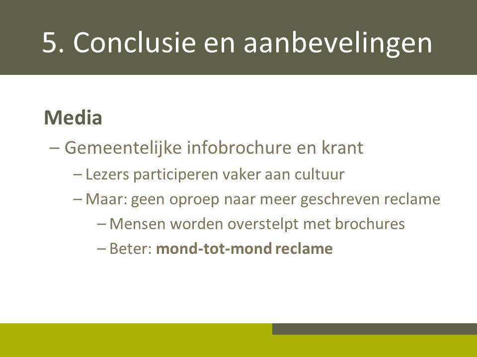 5. Conclusie en aanbevelingen