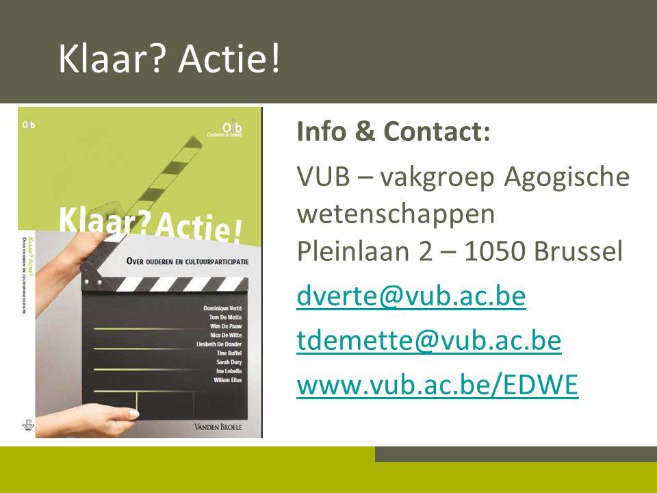 Klaar Actie! Info & Contact: