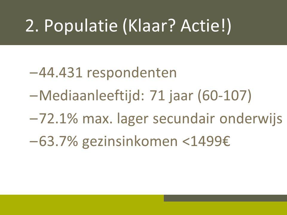 2. Populatie (Klaar Actie!)