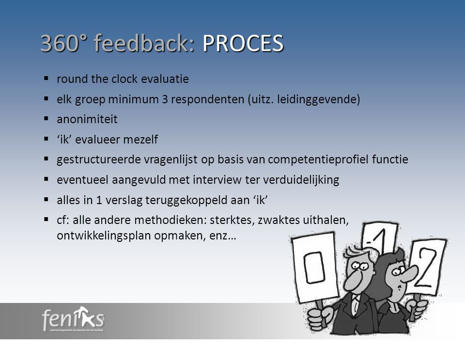360° feedback: PROCES round the clock evaluatie
