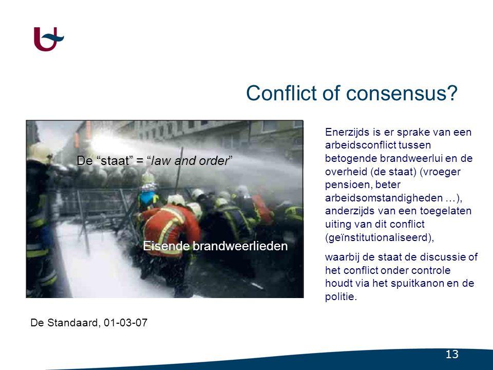 Samenhang: Conflict of consensus als determinerend kenmerk