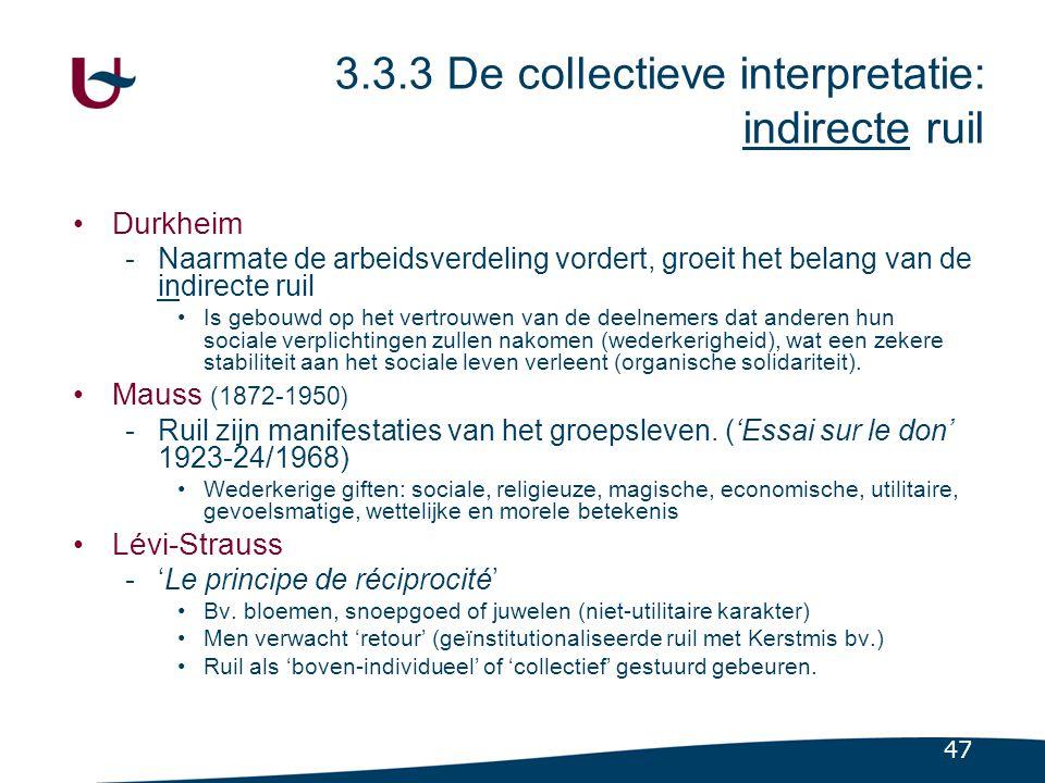 3.3.4 Economische ruil als een vorm van sociale ruil