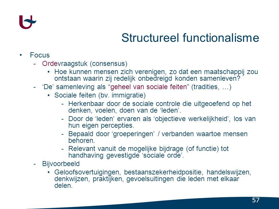 Vraagstuk structureel functionalisme