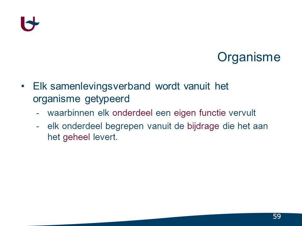 Objectief Handhaving, integratie, balans van de totale samenleving.