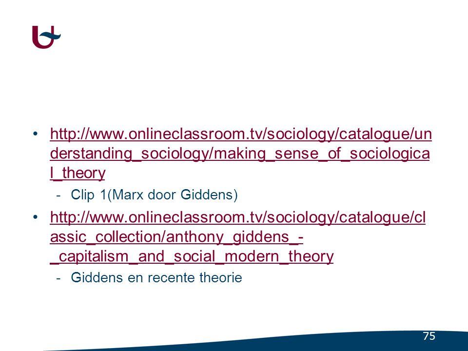 3.5.1 Enkele voorbeelden uit een staalkaart Naast Marx, ook andere sociologen (1)