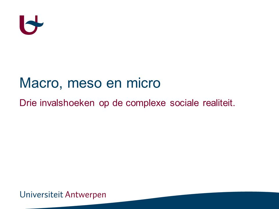 Macro en Micro: Ik ben dakloos , sociologisch