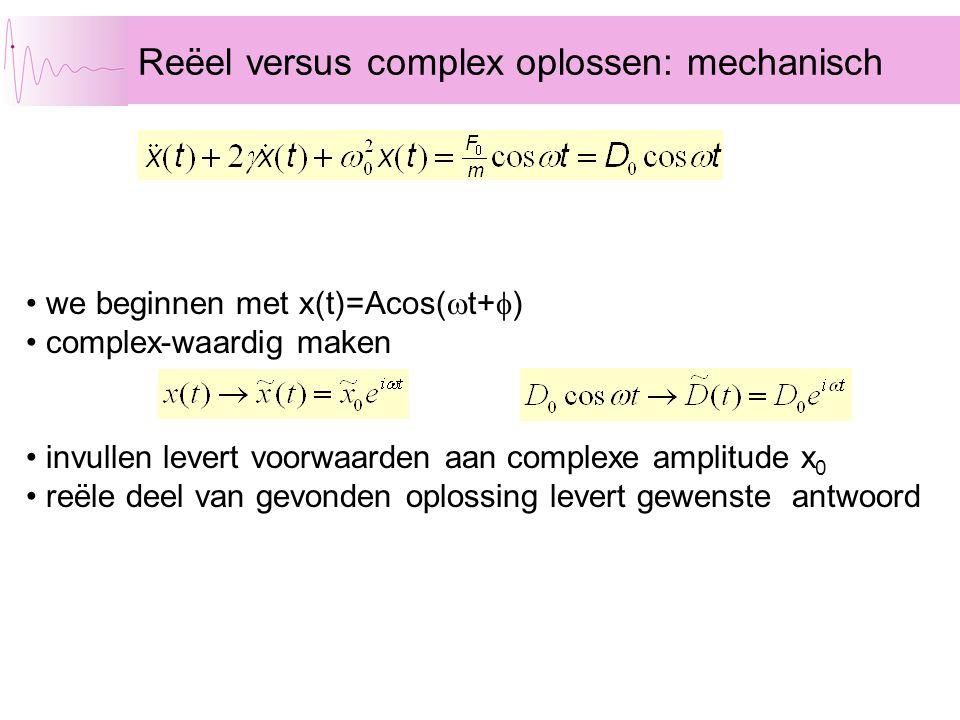Reëel versus complex oplossen: mechanisch