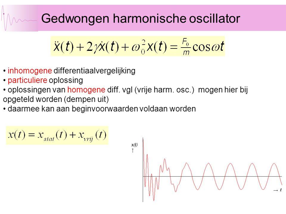 Gedwongen harmonische oscillator