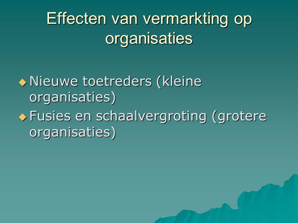Effecten van vermarkting op organisaties