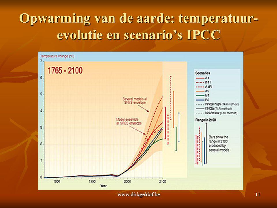 Opwarming van de aarde: temperatuur-evolutie en scenario's IPCC
