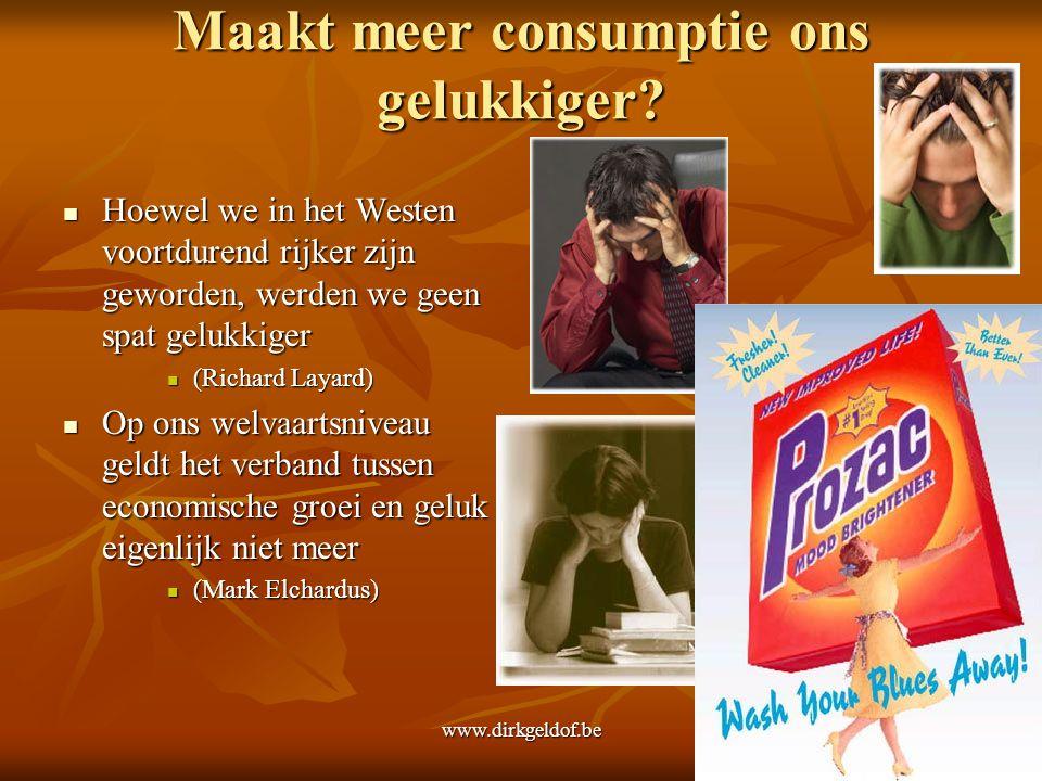 Maakt meer consumptie ons gelukkiger