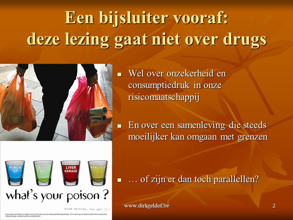 Een bijsluiter vooraf: deze lezing gaat niet over drugs