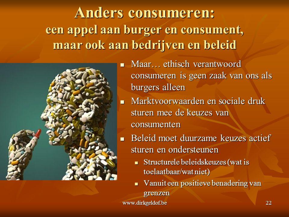 Anders consumeren: een appel aan burger en consument, maar ook aan bedrijven en beleid