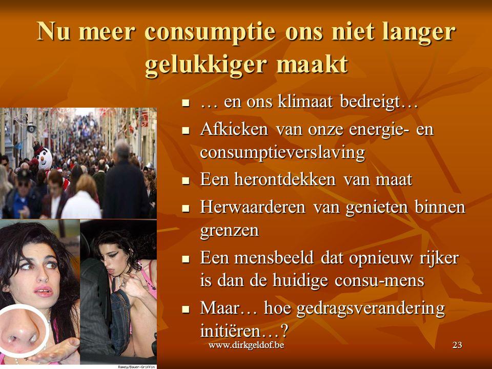 Nu meer consumptie ons niet langer gelukkiger maakt