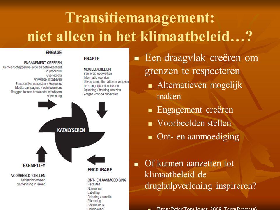 Transitiemanagement: niet alleen in het klimaatbeleid…