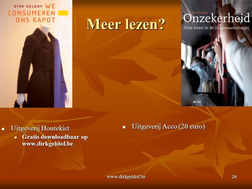 Meer lezen Uitgeverij Acco (20 euro) Uitgeverij Houtekiet